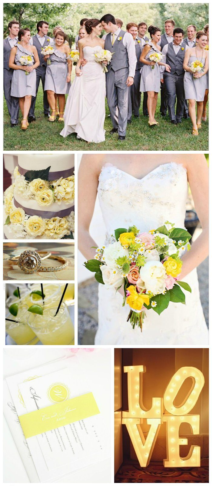 wedding inspiration in light yellow