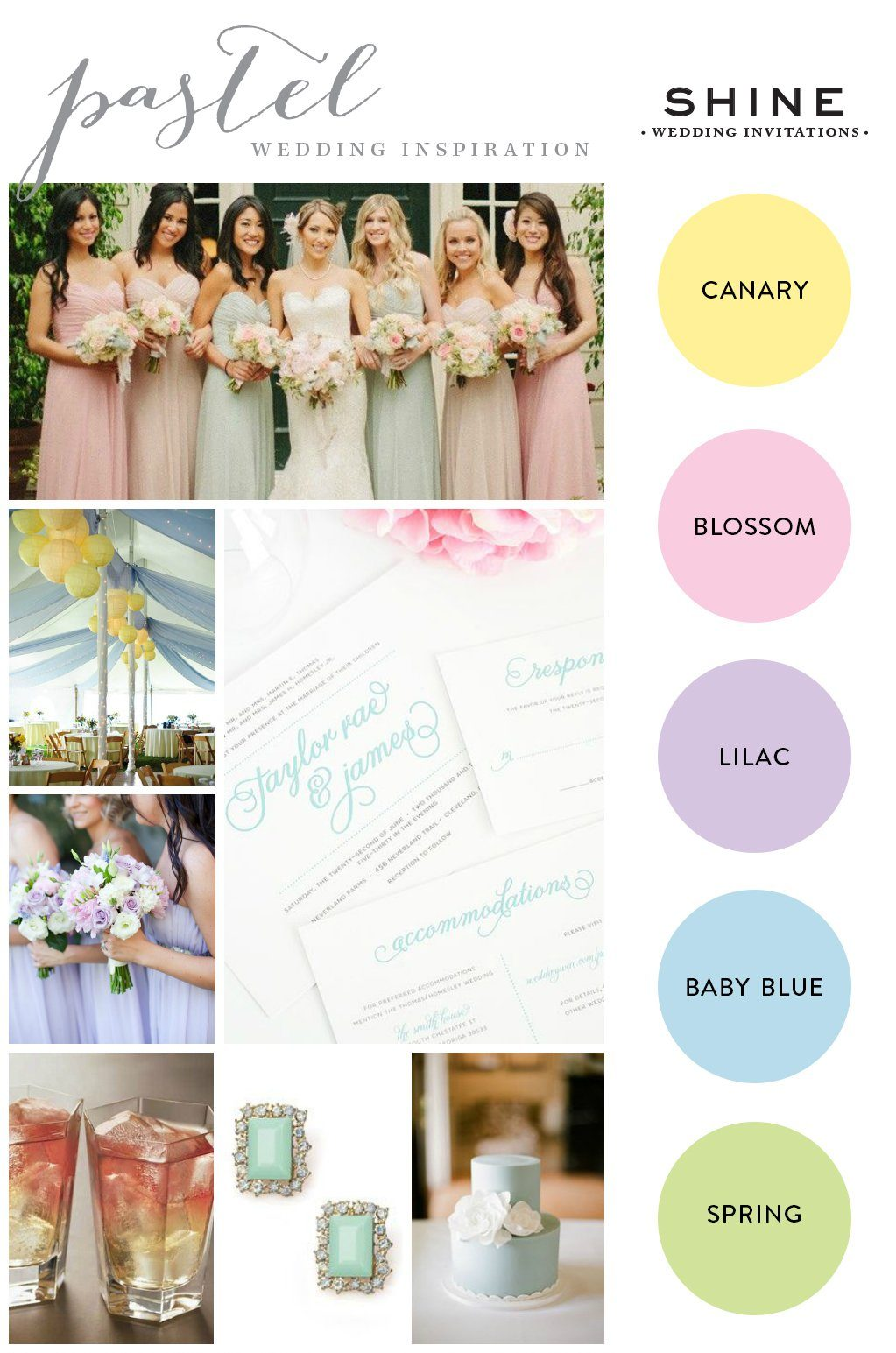 Pastel Wedding Inspiration – Wedding Invitations