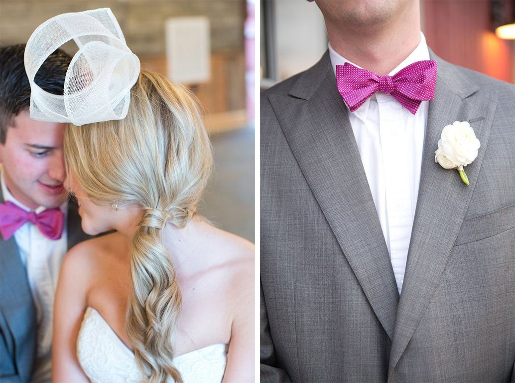 Groom with Pink Bowtie