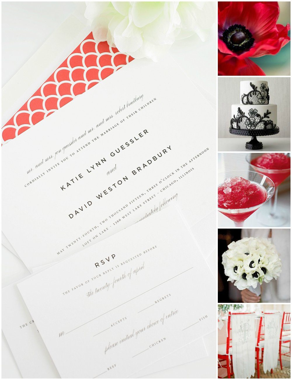 Red wedding invitations and inspiration