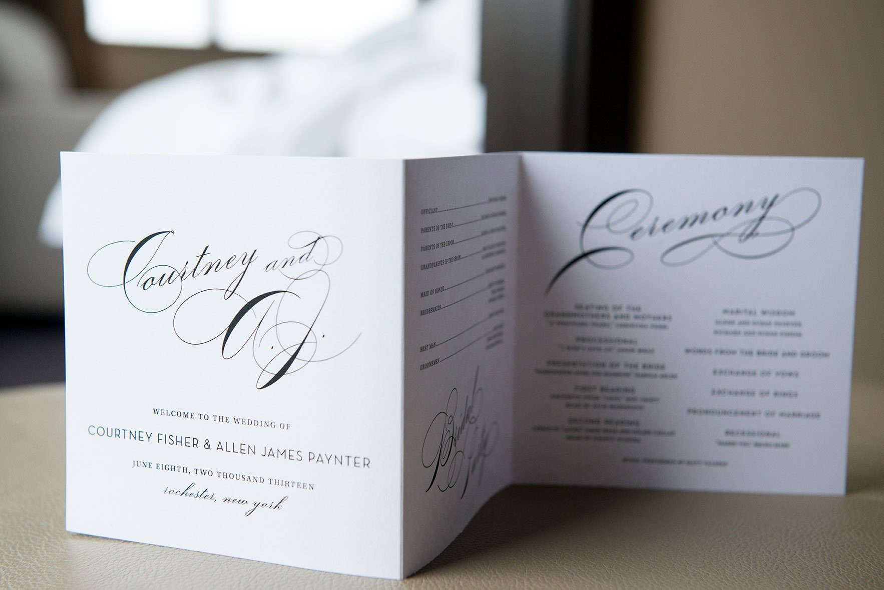 Simple and Elegant Wedding Programs