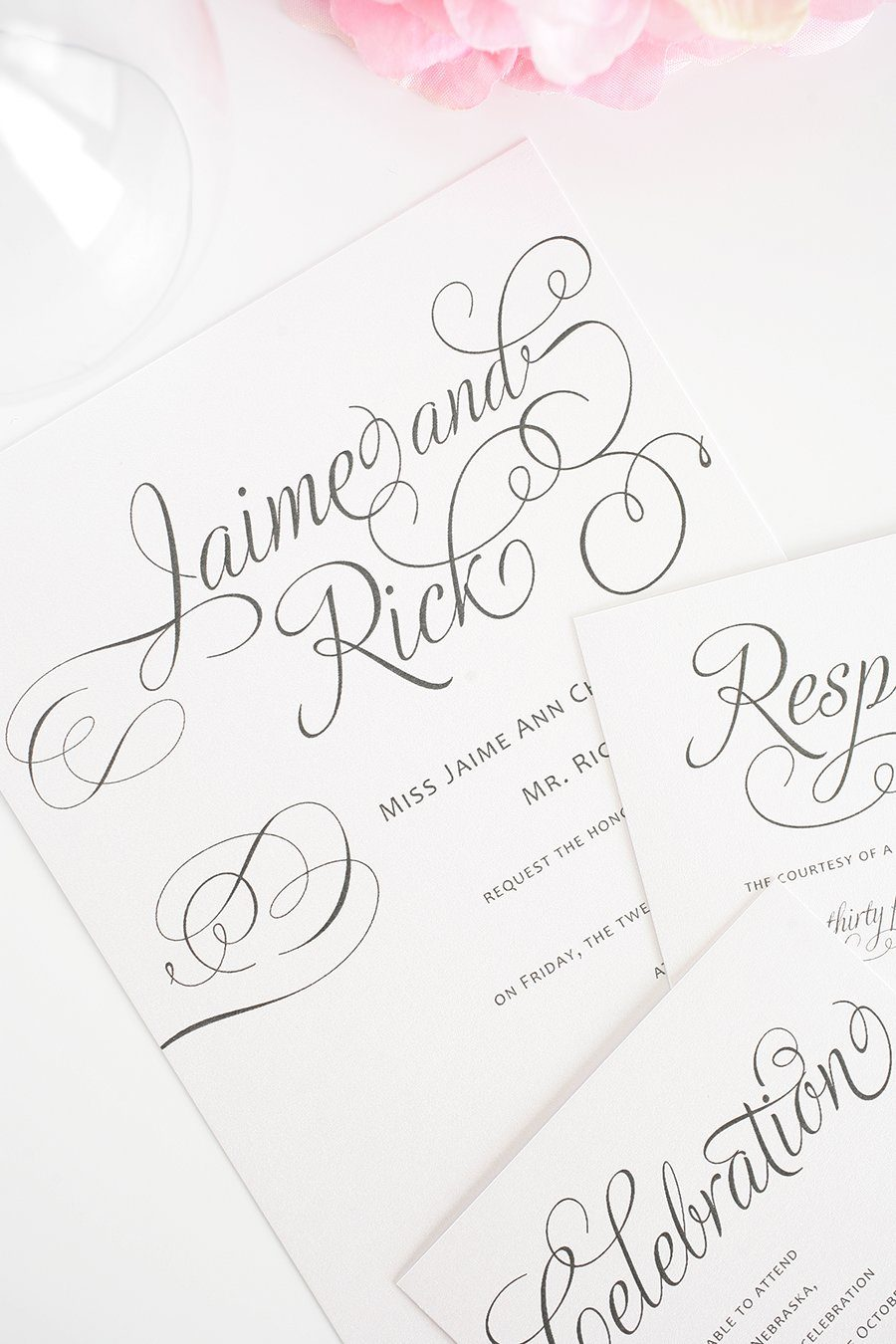 Wedding Invites in Gray