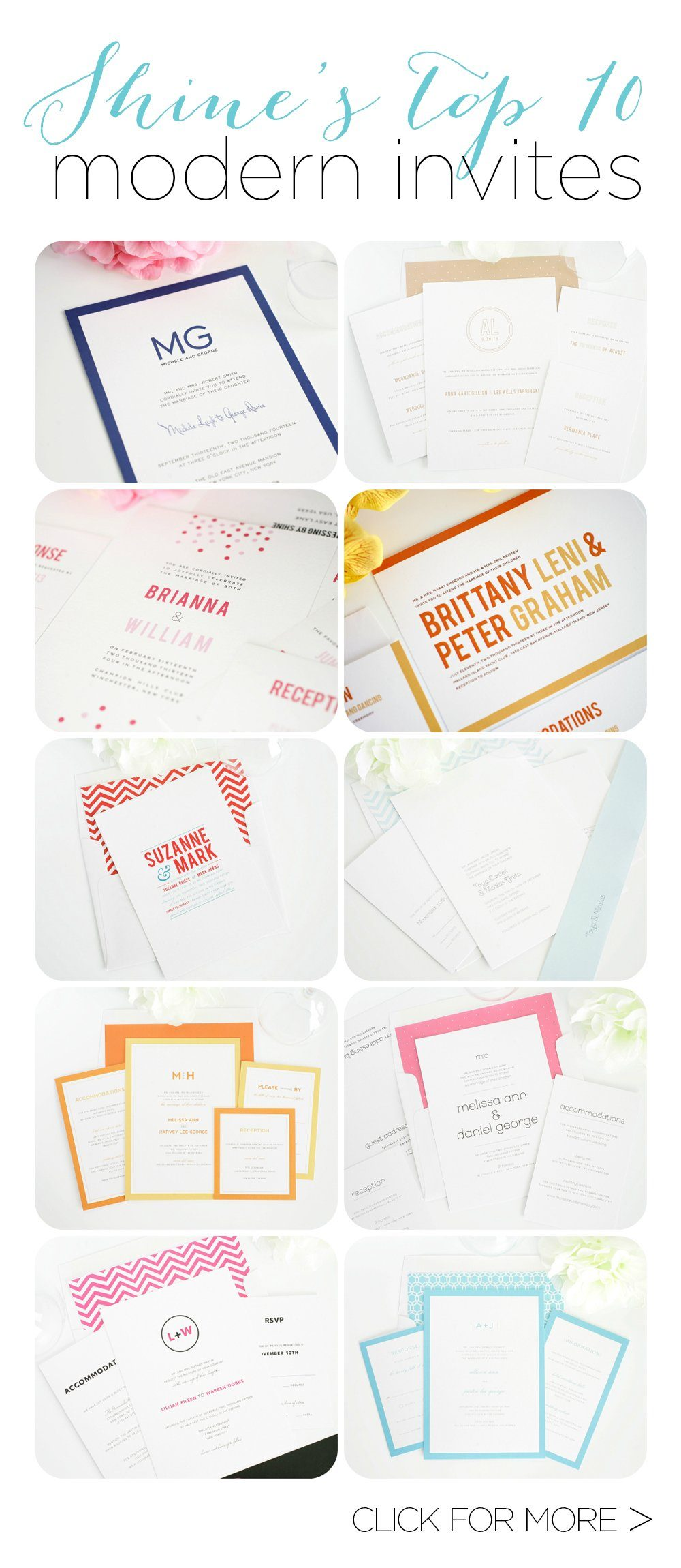 top 10 modern wedding invites