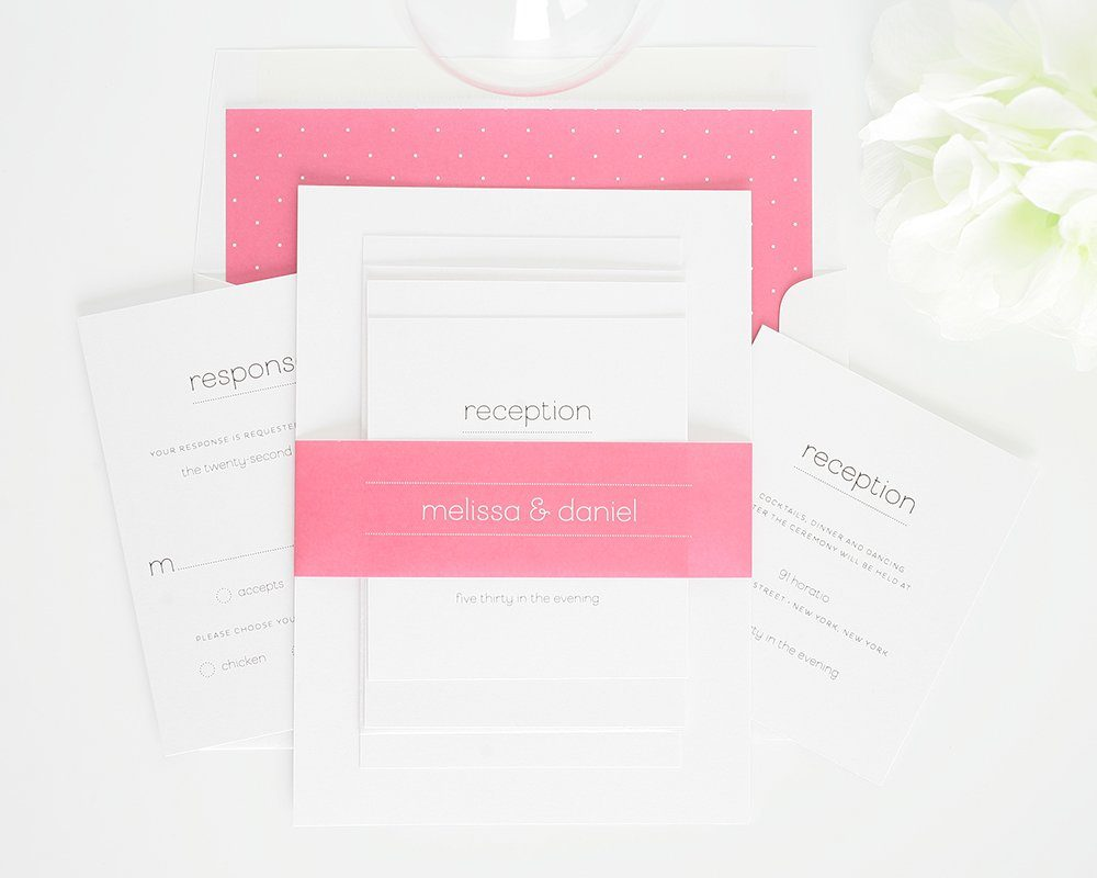 Wedding Invitations in Pink