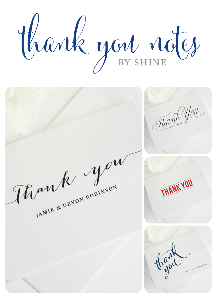 Wedding thank you notes wedding invitations wedding thank you notes junglespirit Choice Image