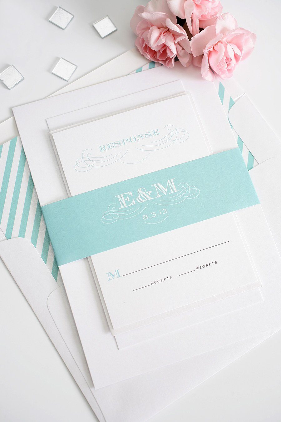 Aquamarine Wedding Invitations