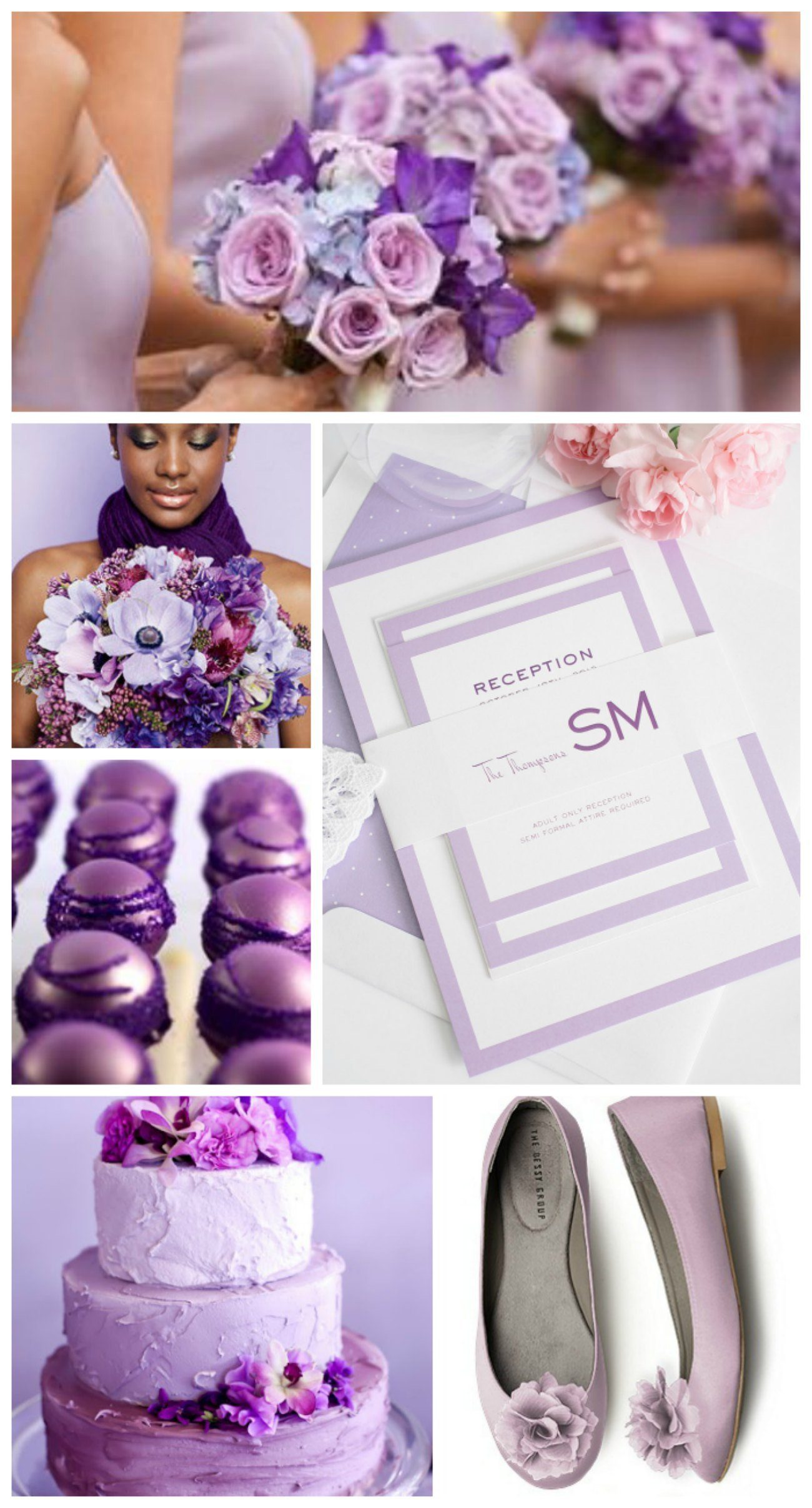 Romantic purple wedding inspiration