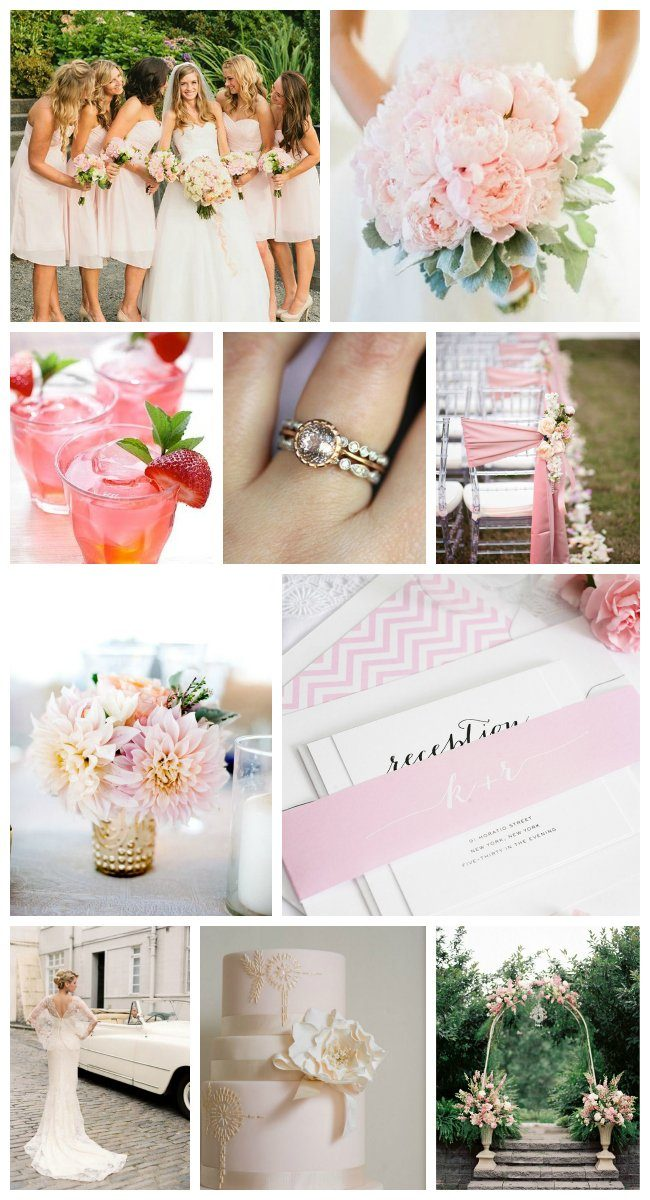 light pink wedding inspiration
