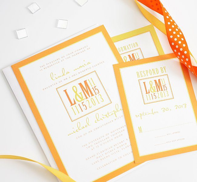 orange-wedding-invite