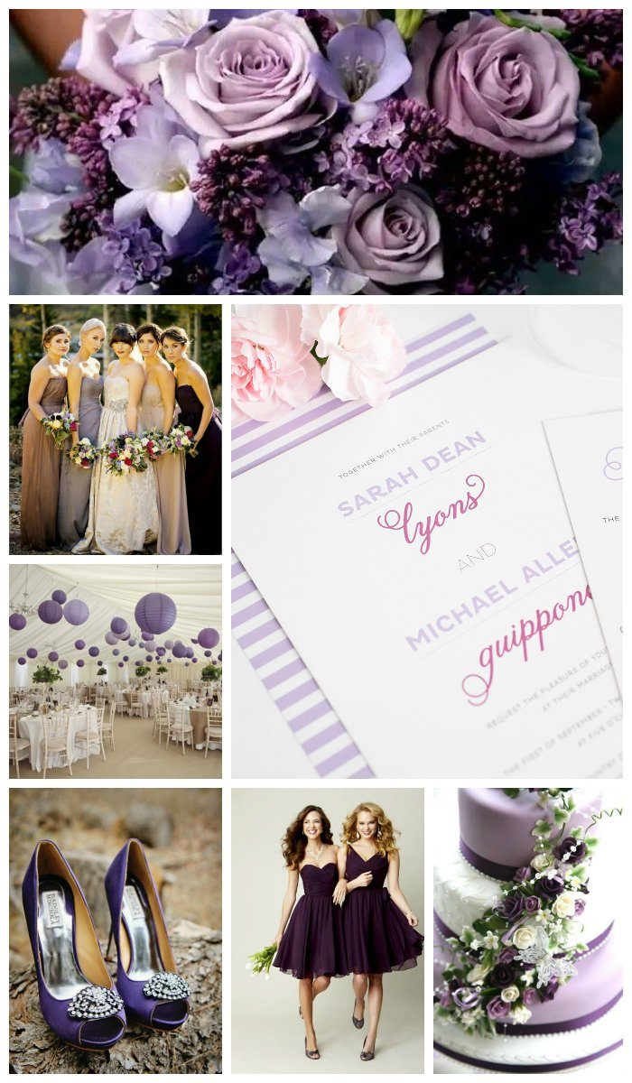 Wedding inspiration in purple