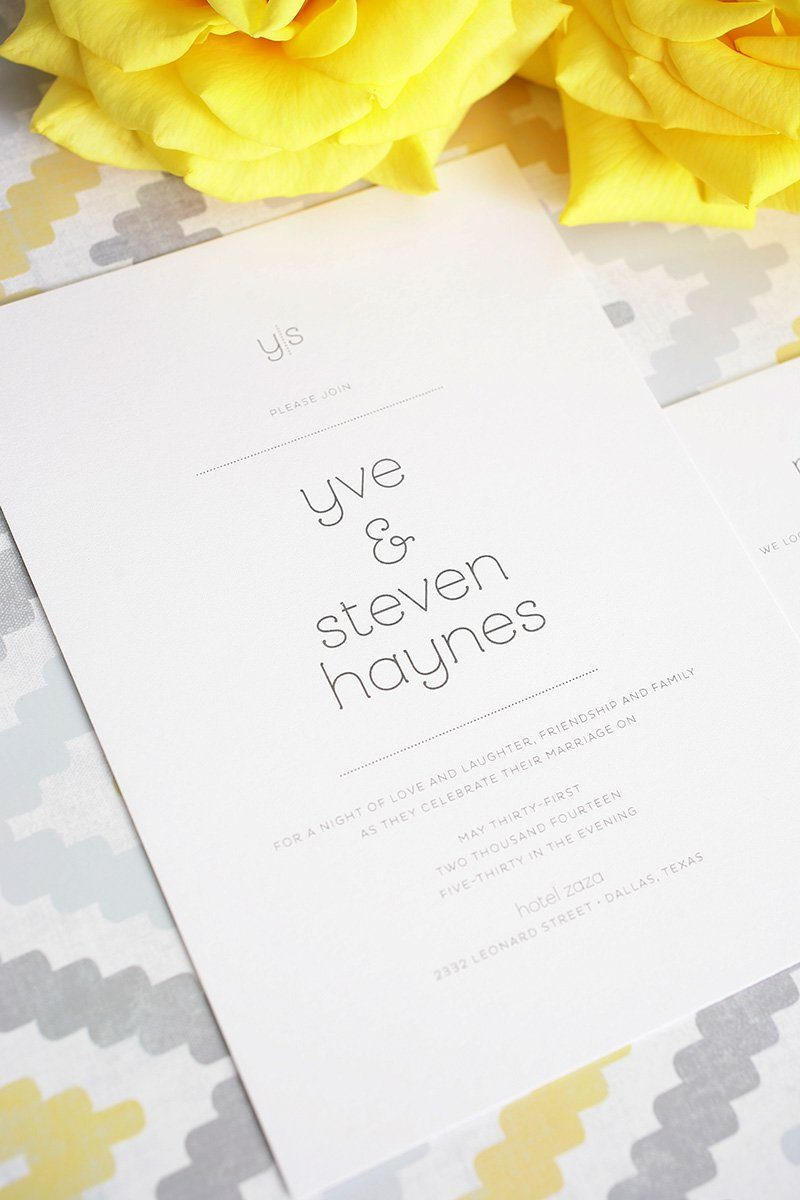stylish wedding invitations with monogram
