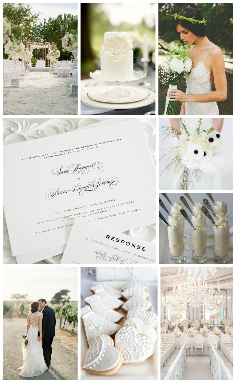 All white wedding inspiration
