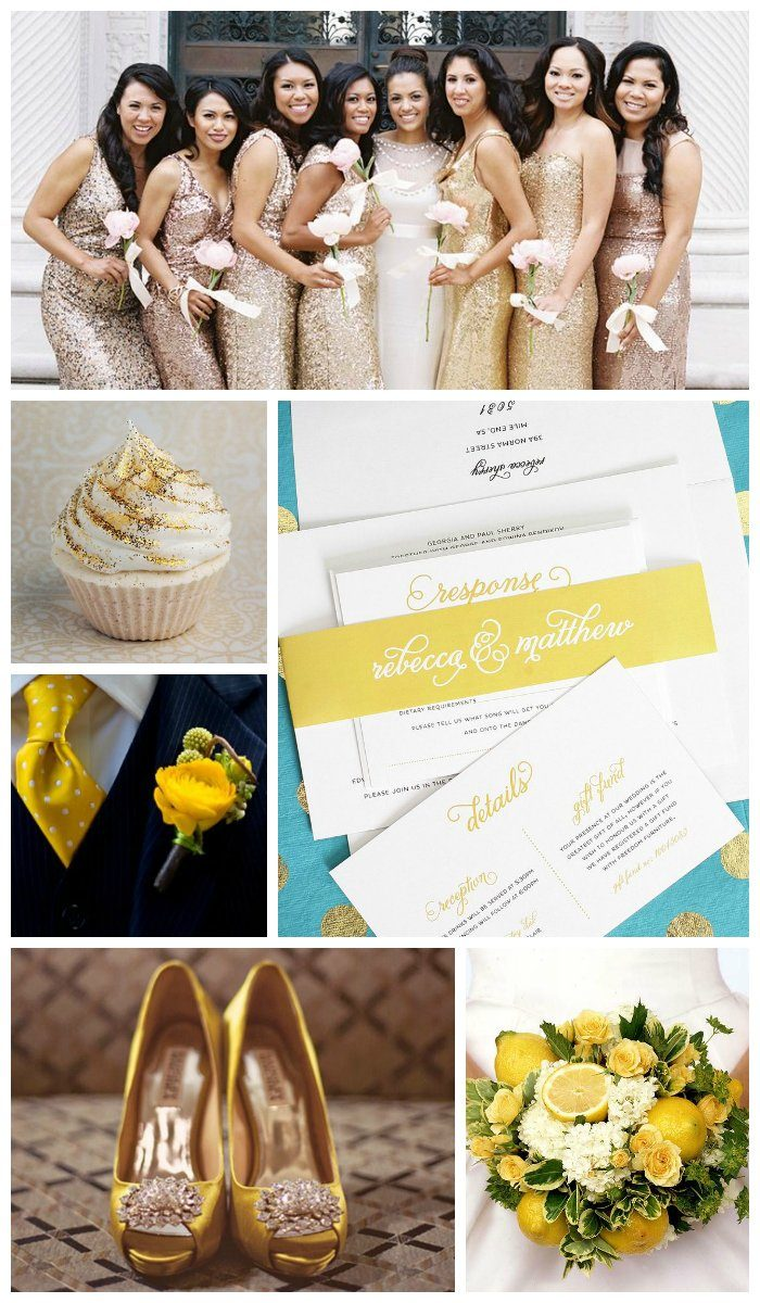 Wedding Inspiration in Gold
