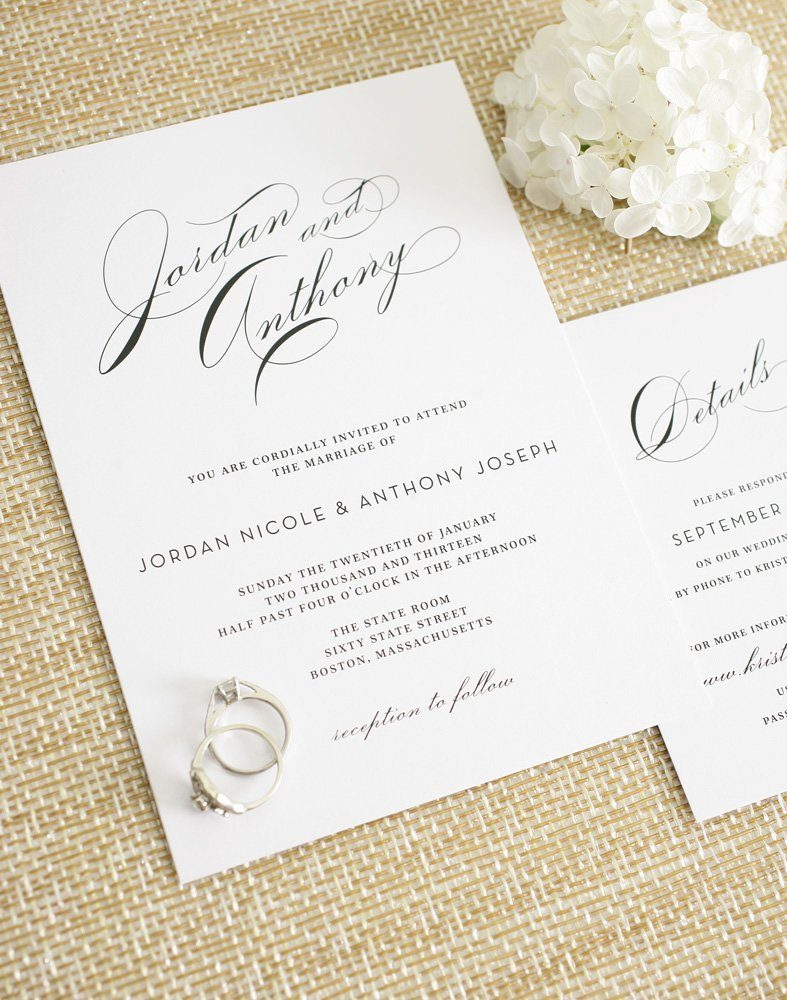 glamorous wedding invitations wedding invitations