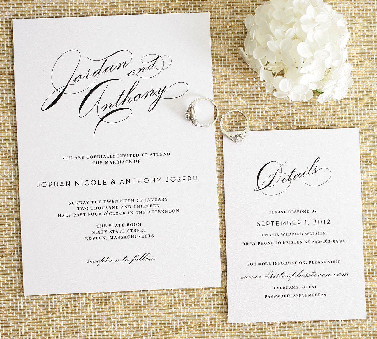 Vintage Wedding Invitations Glamorous