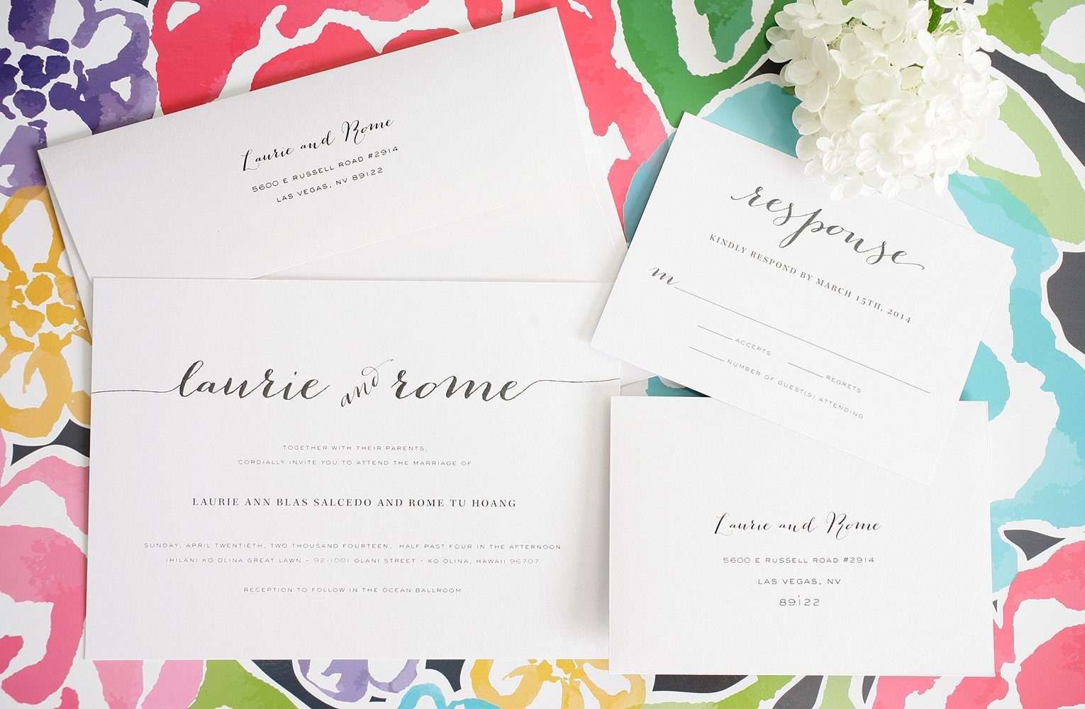 Rustic Wedding Invitations with Big Script