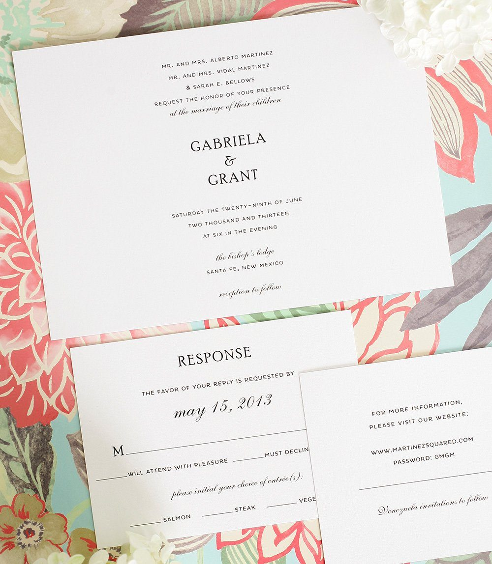 Simple Wedding Invites