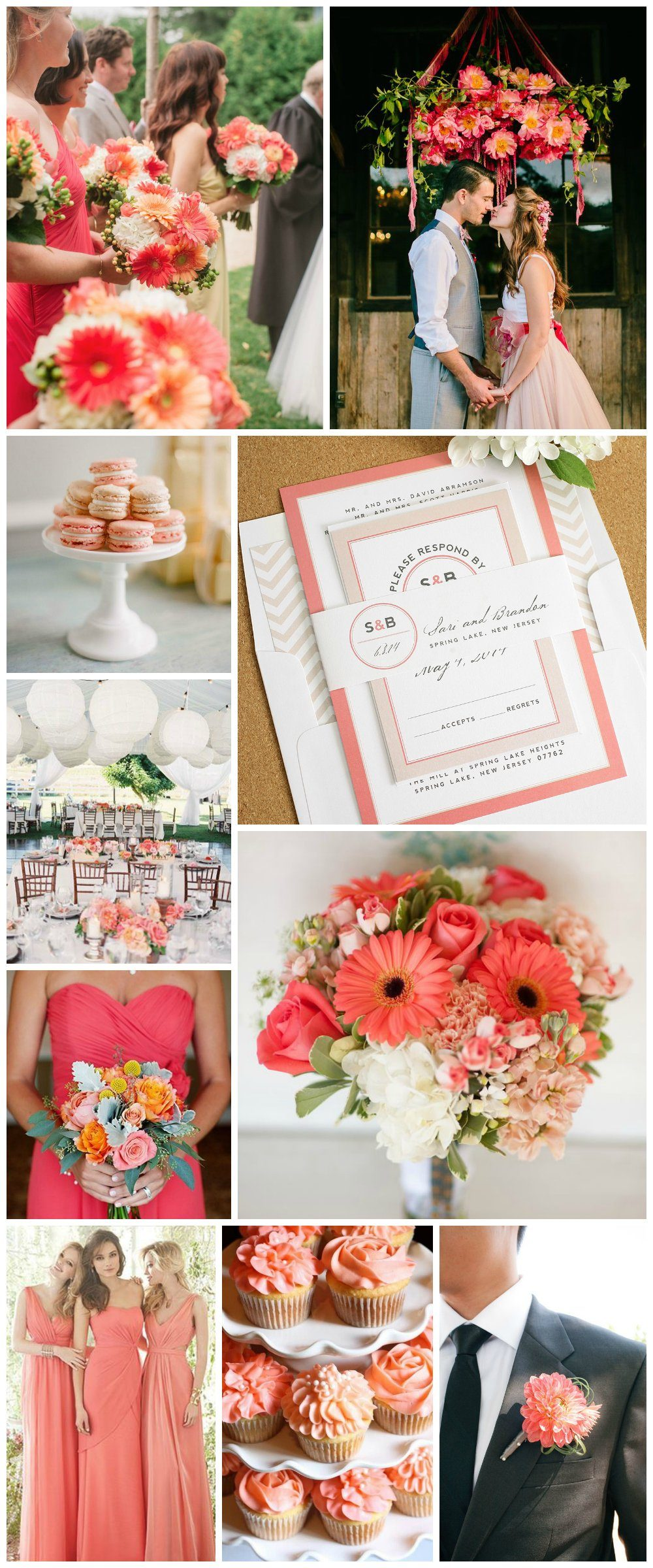 Wedding Inspiration in Coral