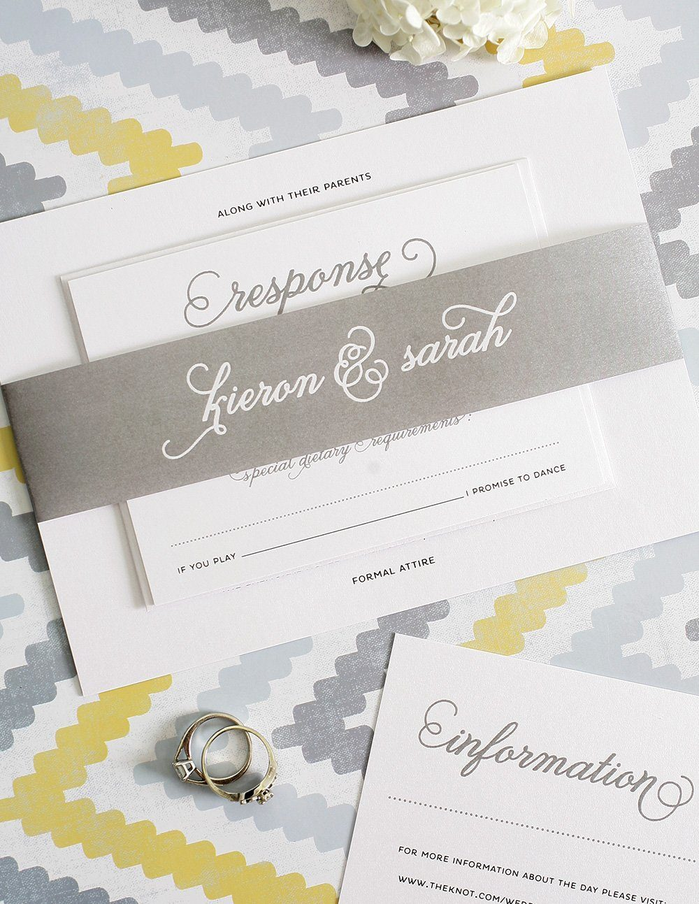 Gray Wedding Invitations