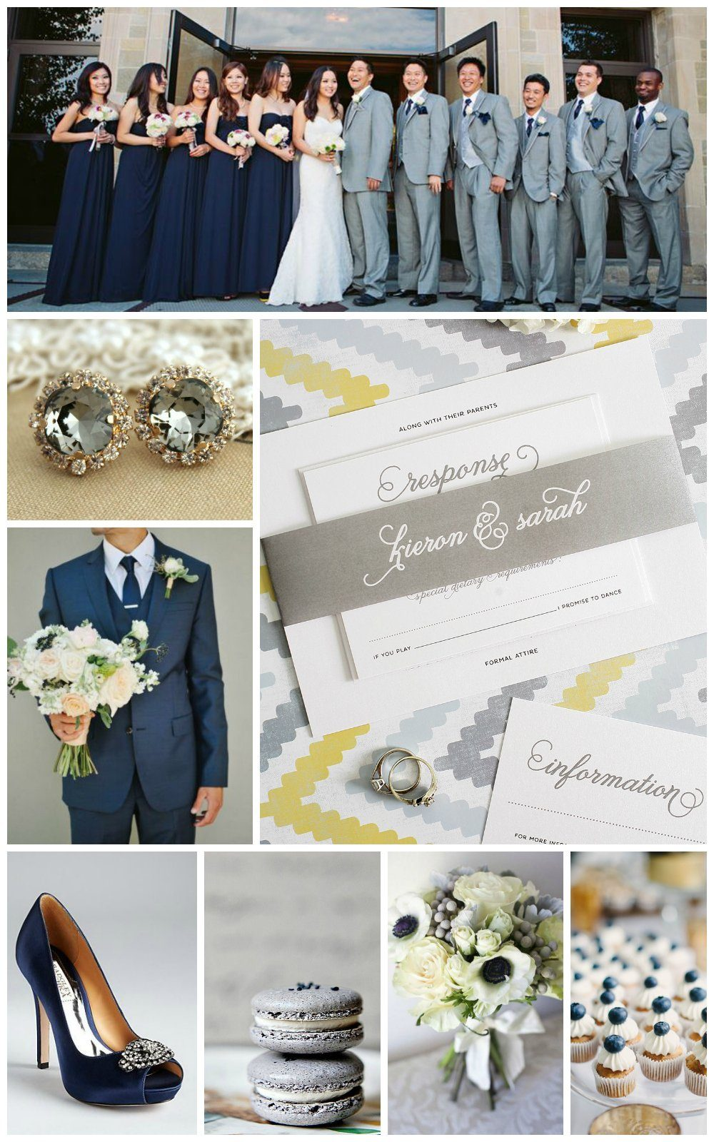 Gray and Navy Wedding Inspiration