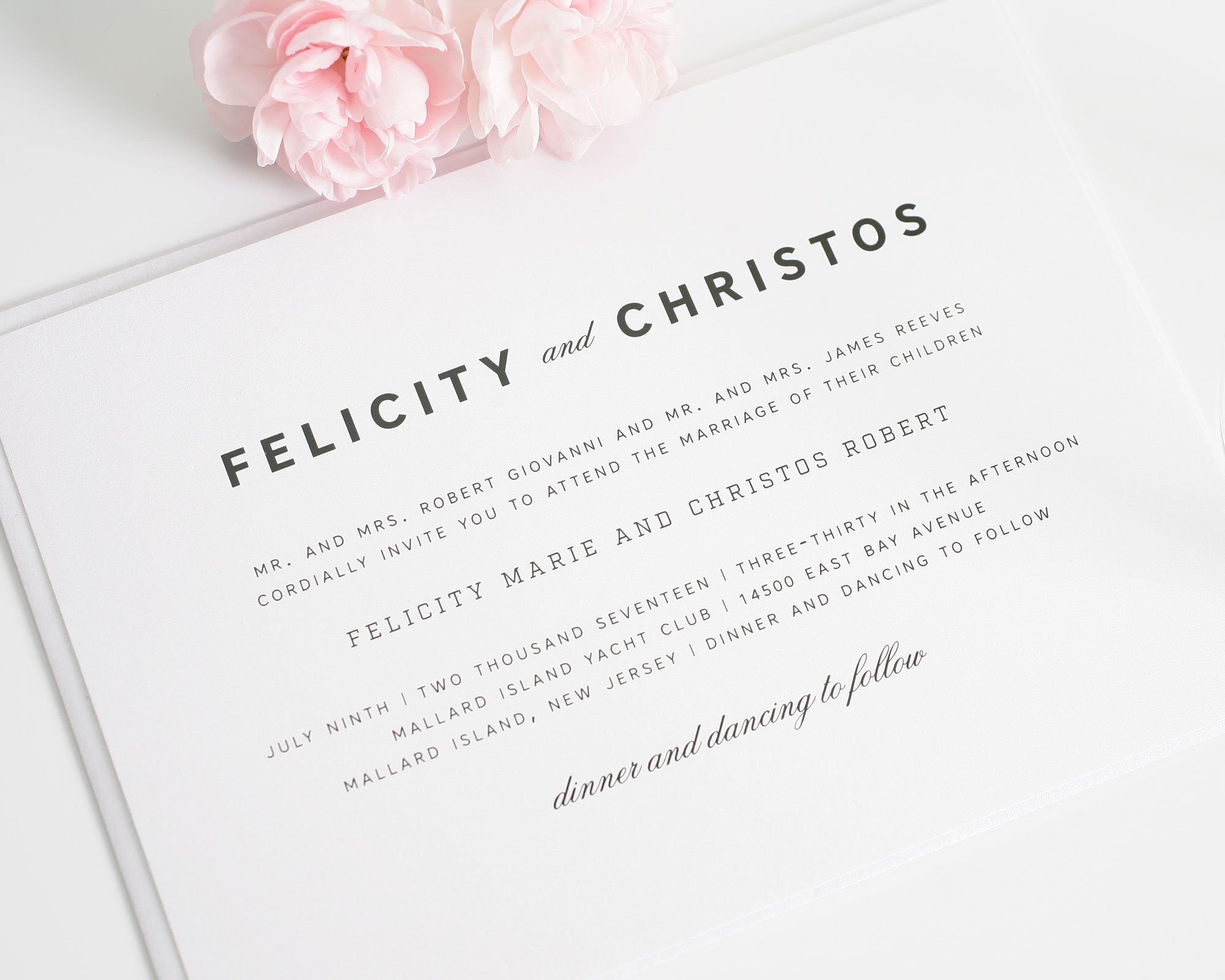 romantic wedding invitations with an urban feel wedding