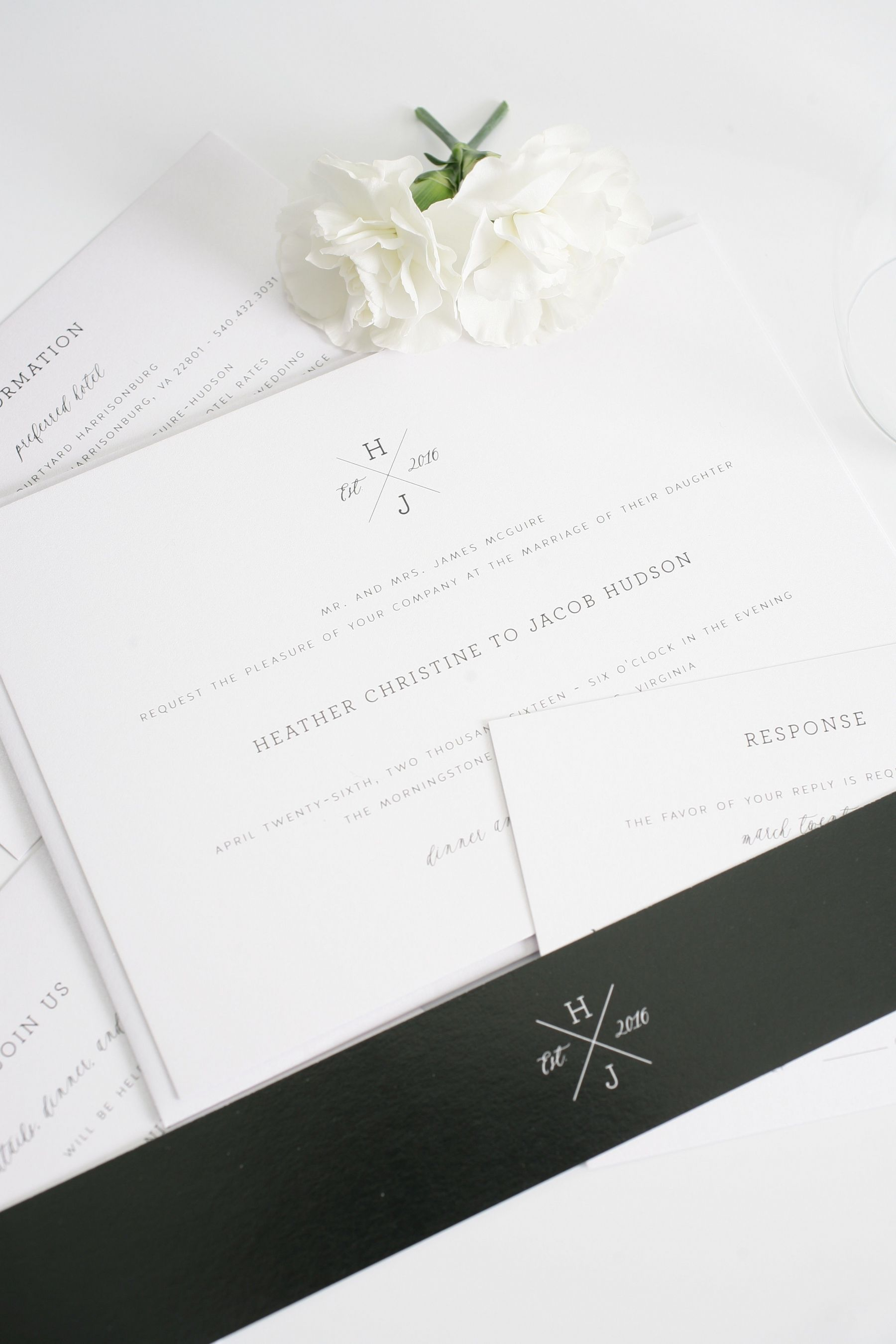 simple and elegant wedding invitationa