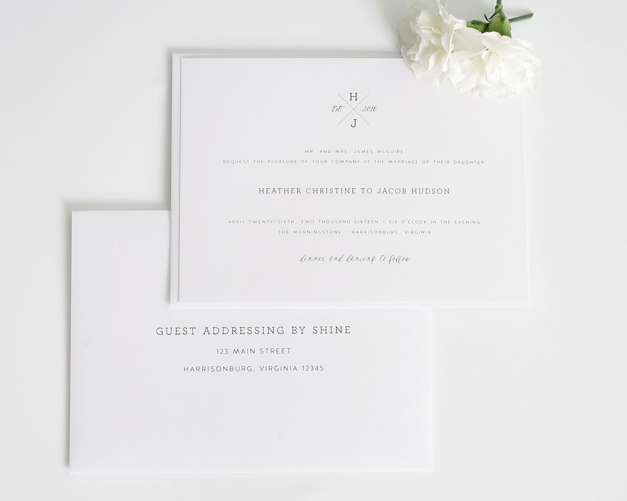 guest-addressing-white-wedding-invitations