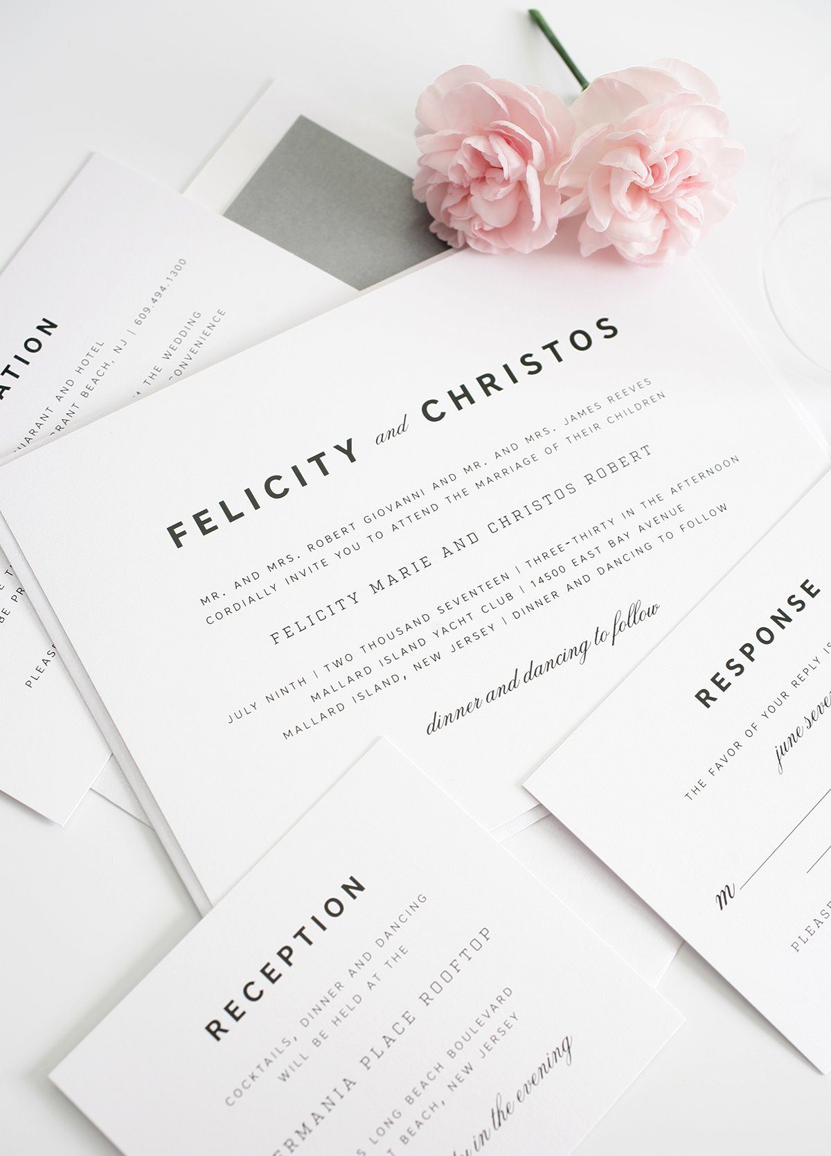 modern and vintage wedding invitation