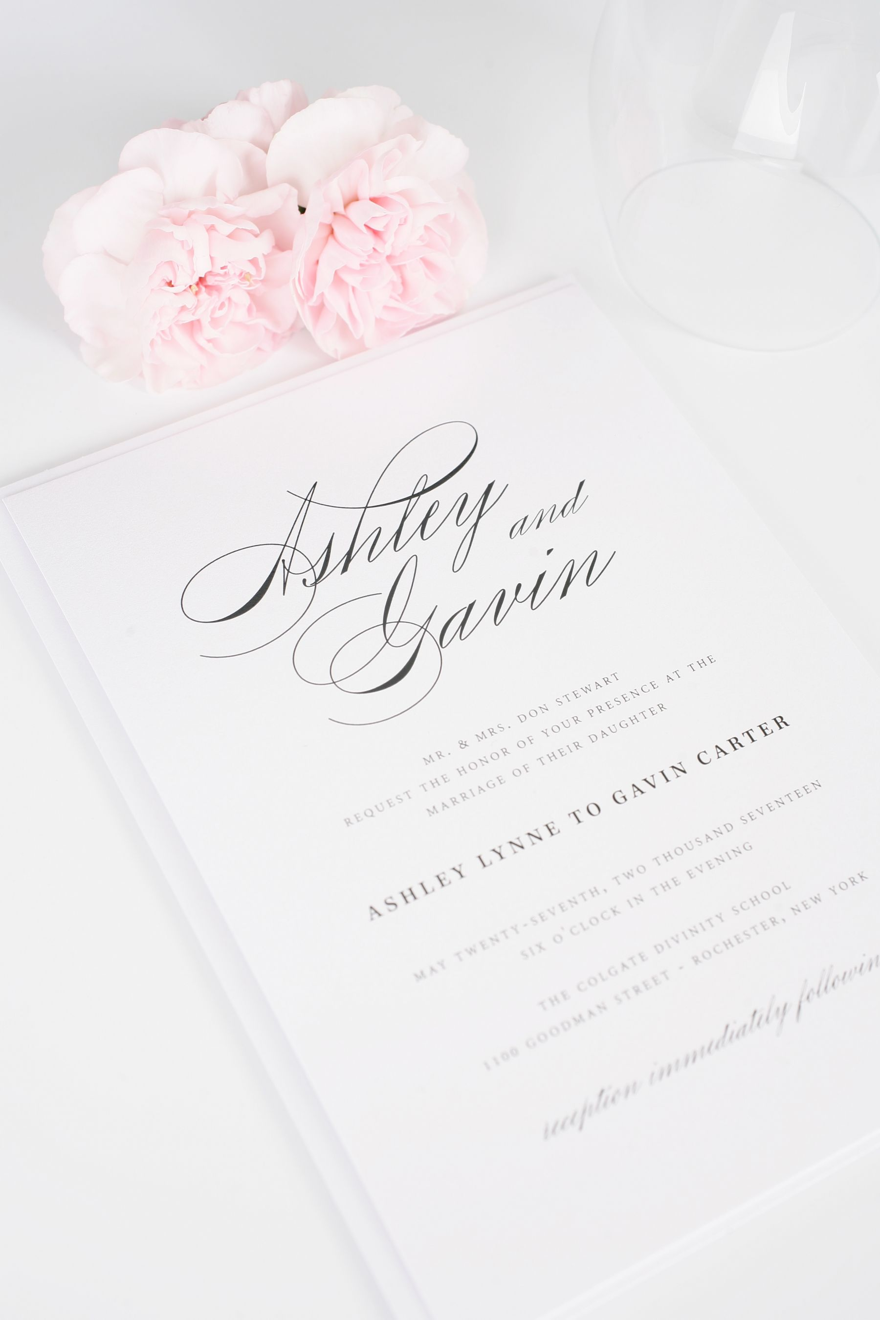 elegant green wedding invitations