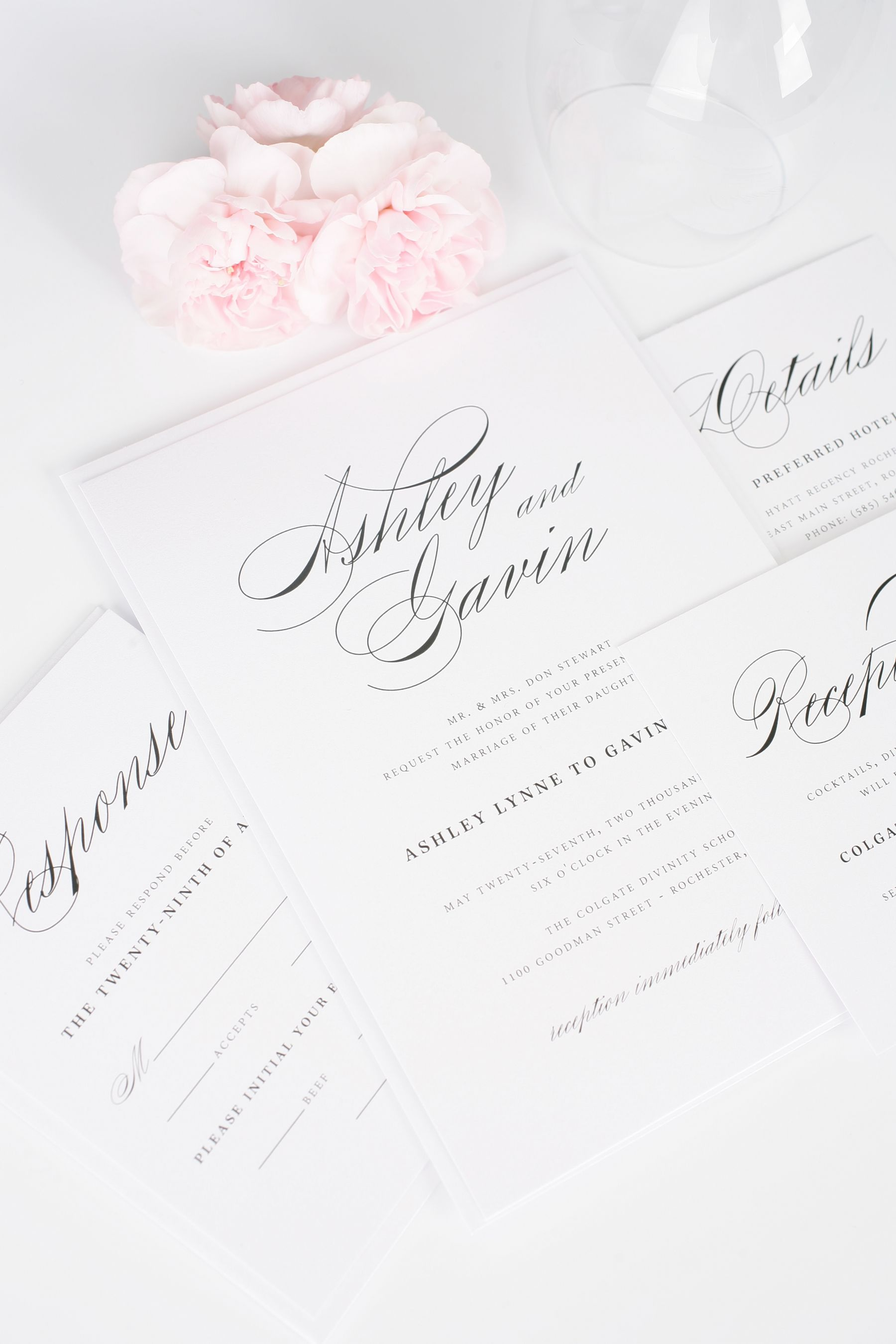 script wedding invitation suite