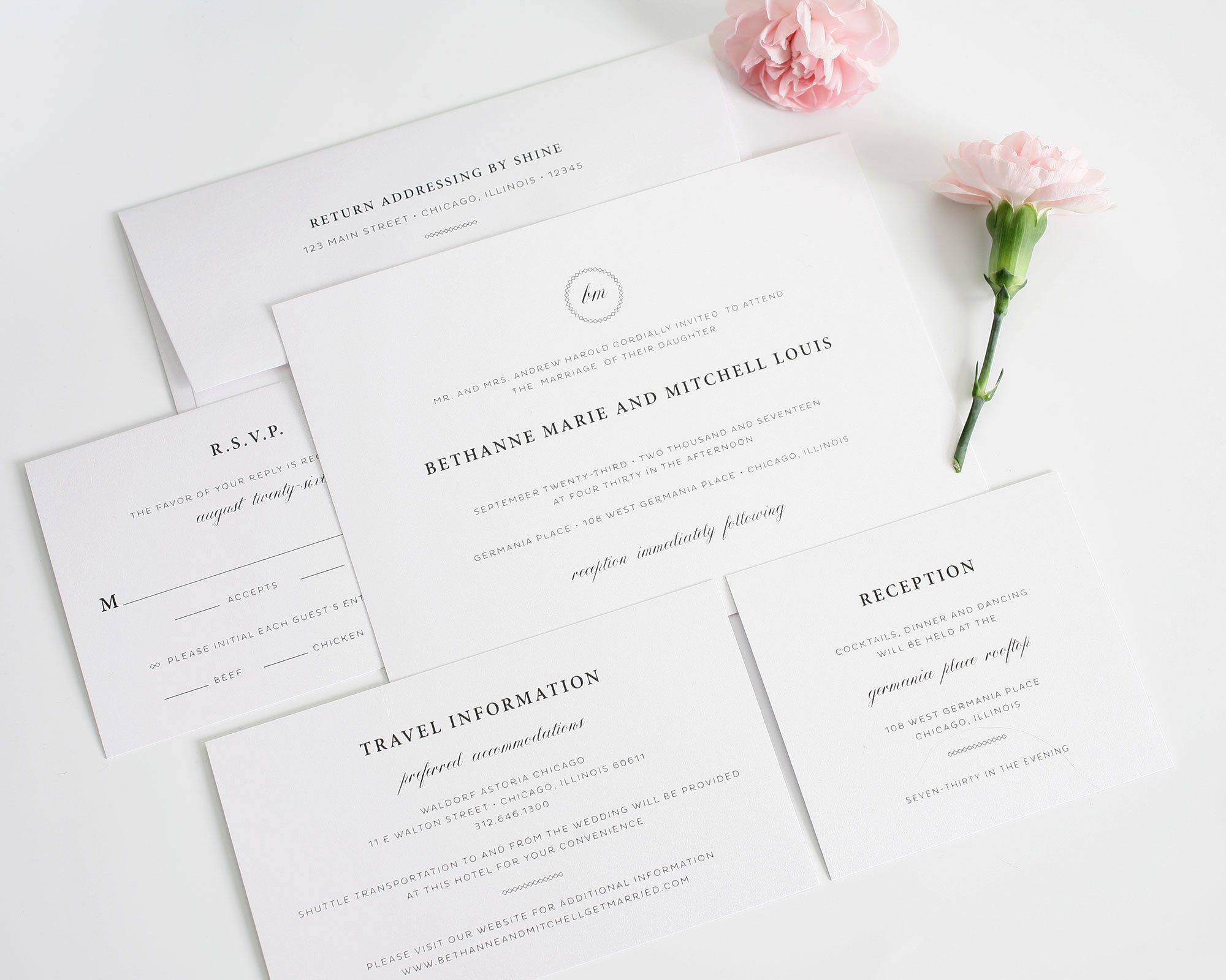 Elegant Monogram Wedding Invitations: Elegant Wedding Invitations With A Monogram