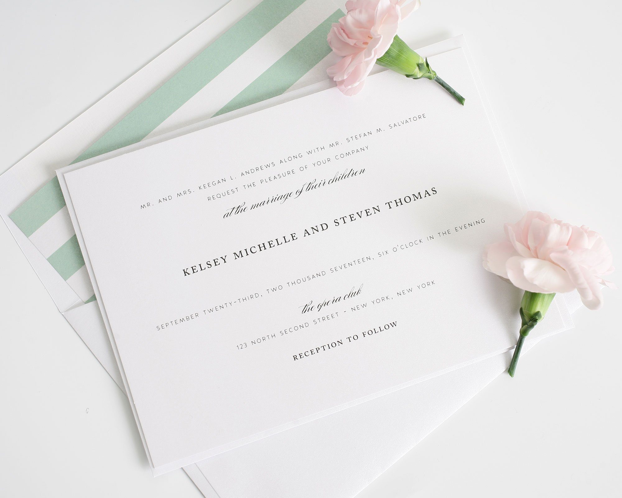 Classic Wedding Invitations in Soft Jade Wedding Invitations – Wedding Invitations Classic