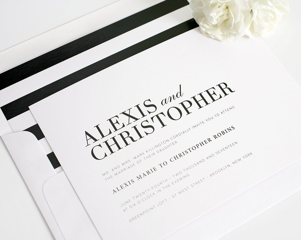 Black and White Striped Wedding Inspiration – Wedding ...
