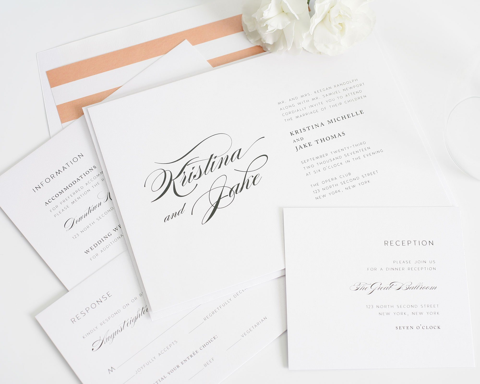 Romantic, Elegant Wedding Invitations – Wedding Invitations