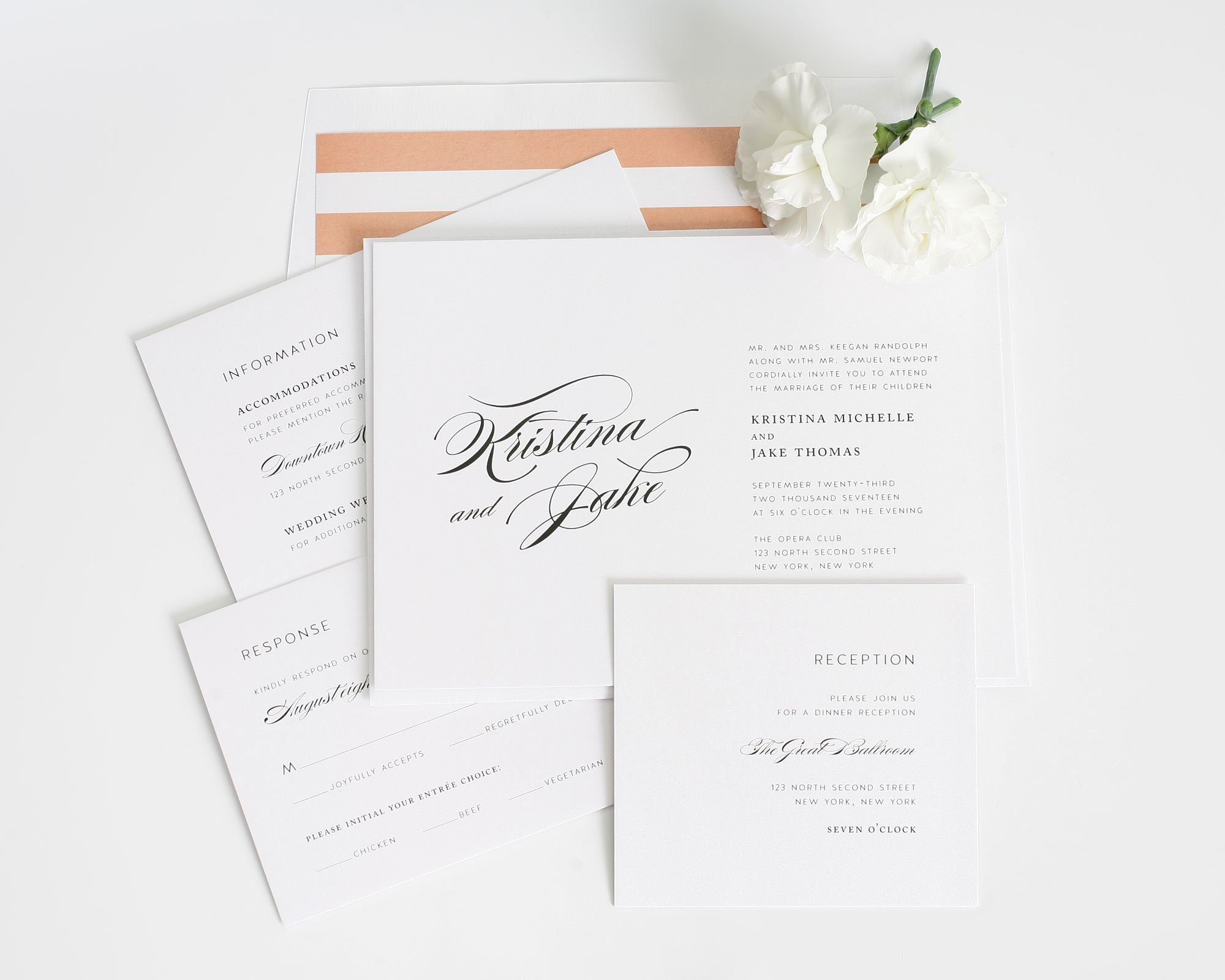 romantic elegant wedding invitations wedding invitations