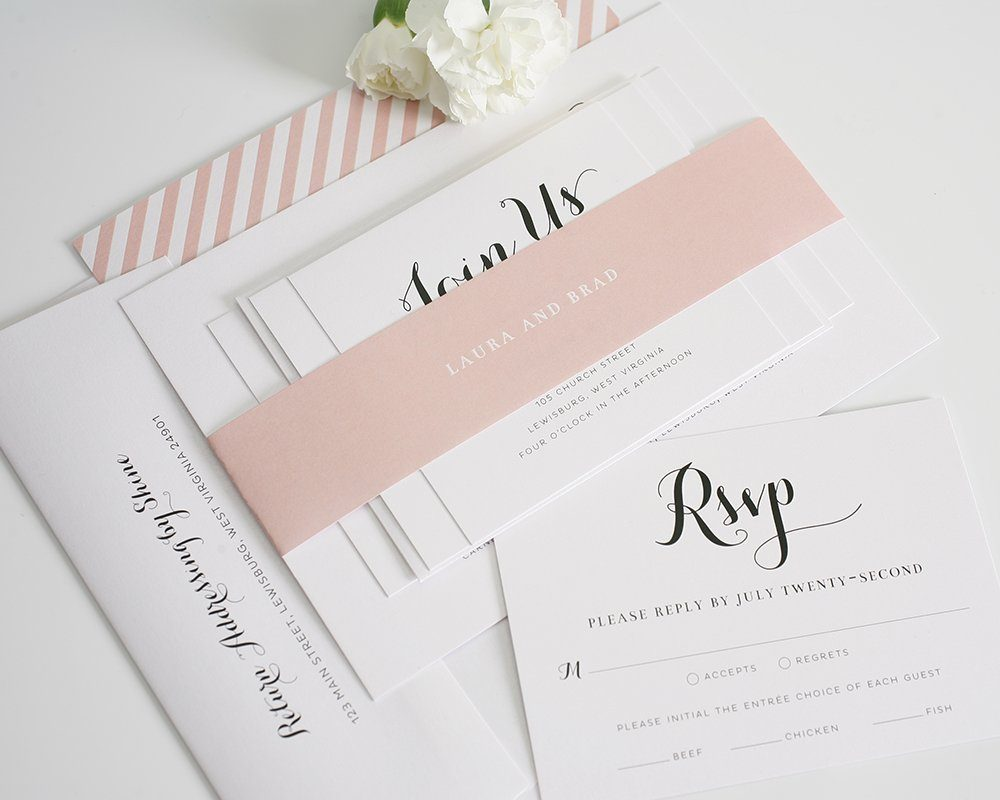 Blush wedding inviation suite