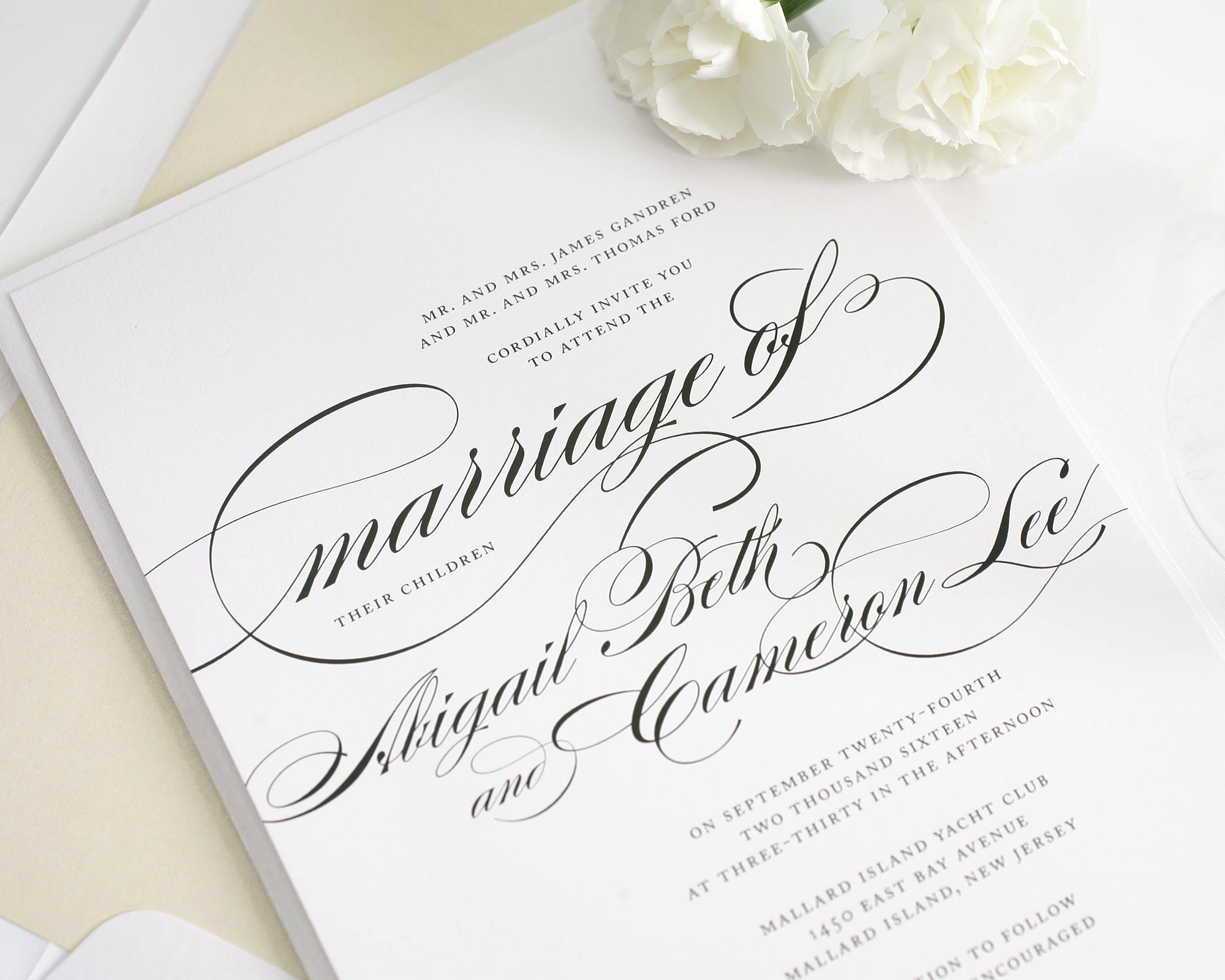 Beautiful Wedding Invitations with Swirls and Swashes – Wedding ...