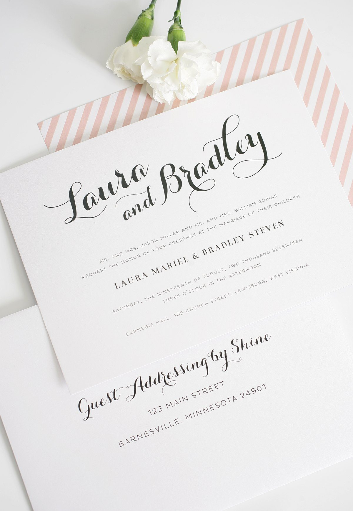 romantic blush wedding invitations u2013 wedding invitations envelope addressing invitation addressing calligraphy computer how - How To Address Wedding Invitations With Guest