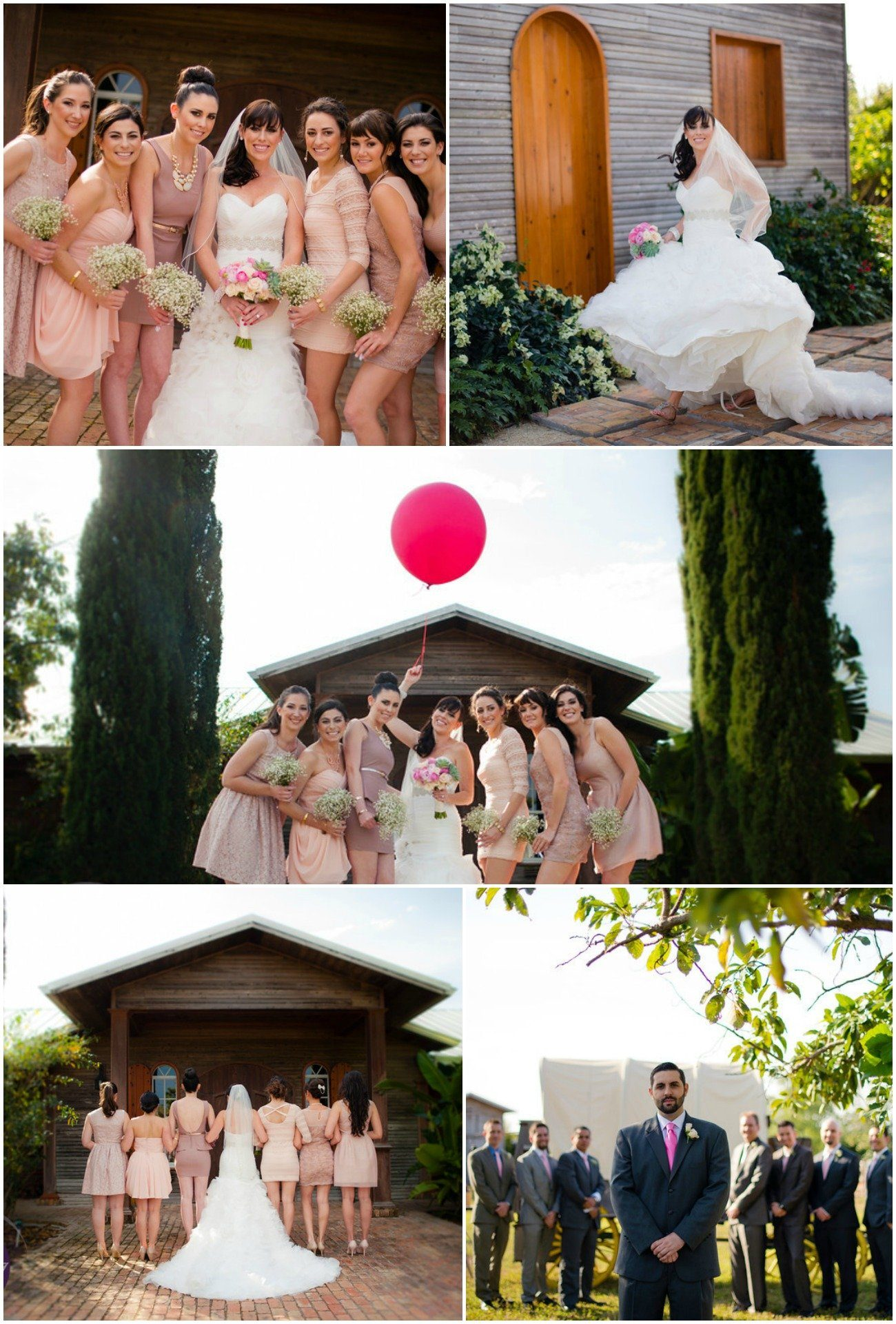 Whimiscal Real Wedding with blush and hot pink accents