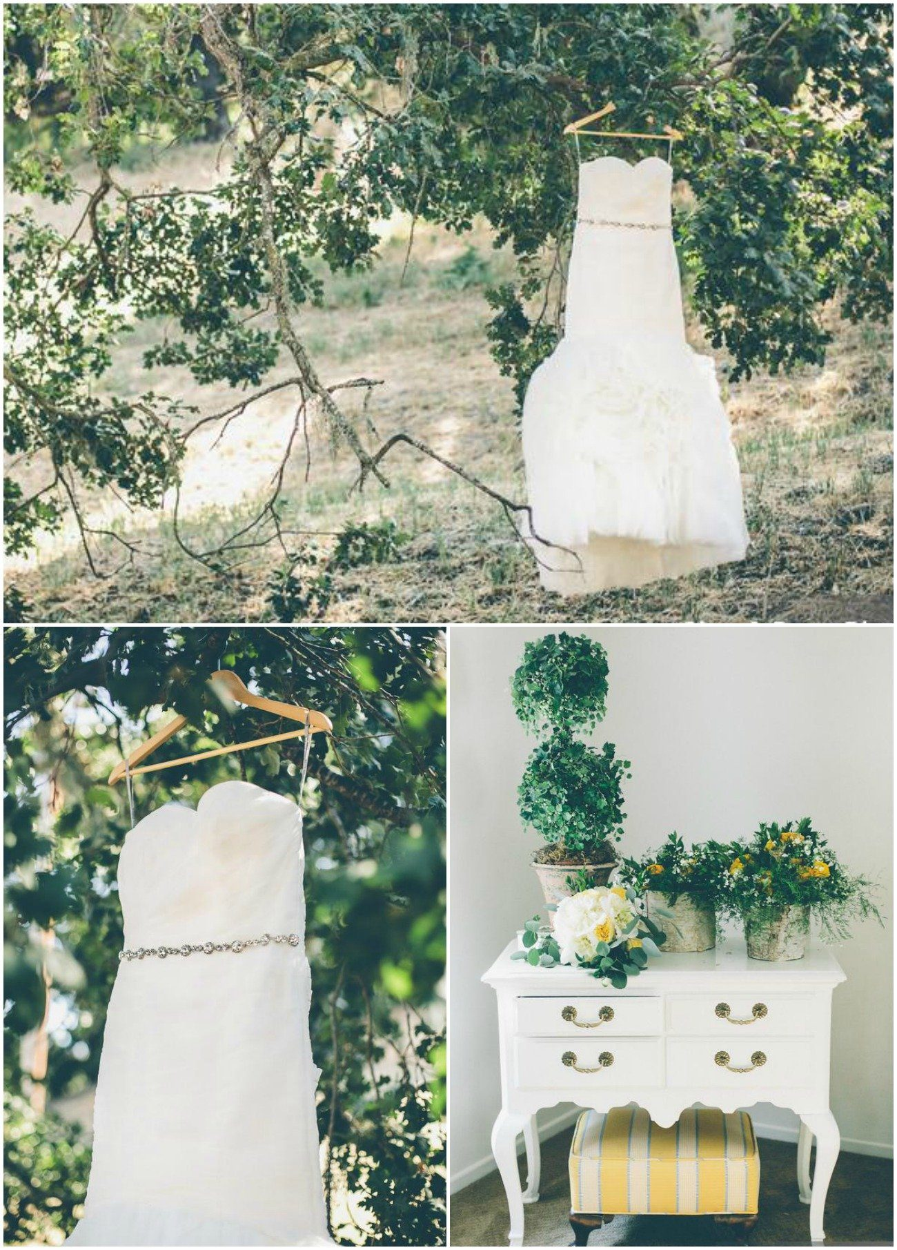 rustic chic vineyard wedding with ruffled dress