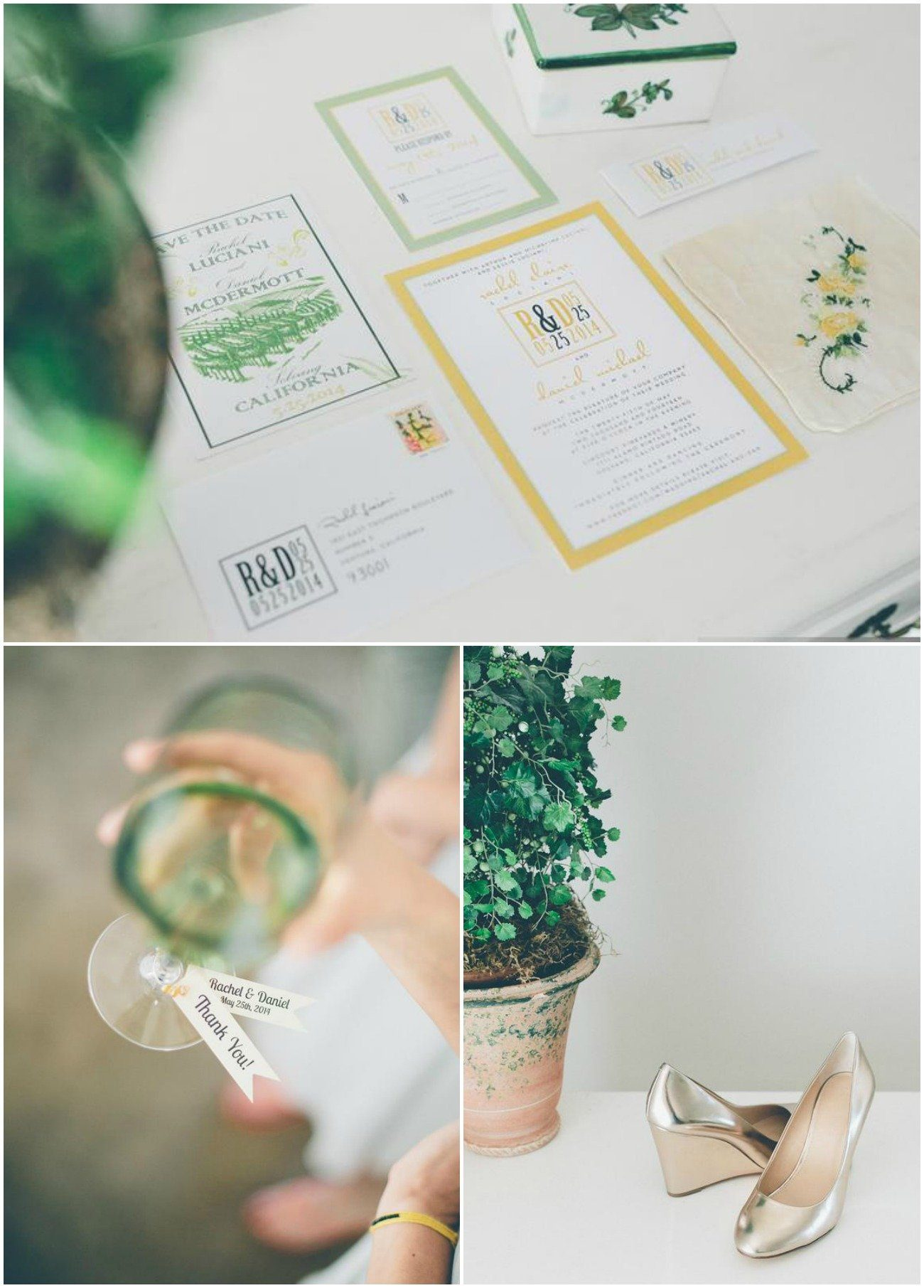 rustic chic vineyard wedding stationery
