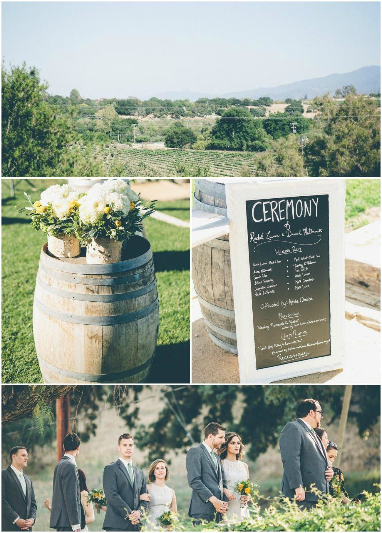 Rustic wedding at Lincourt Vineyards