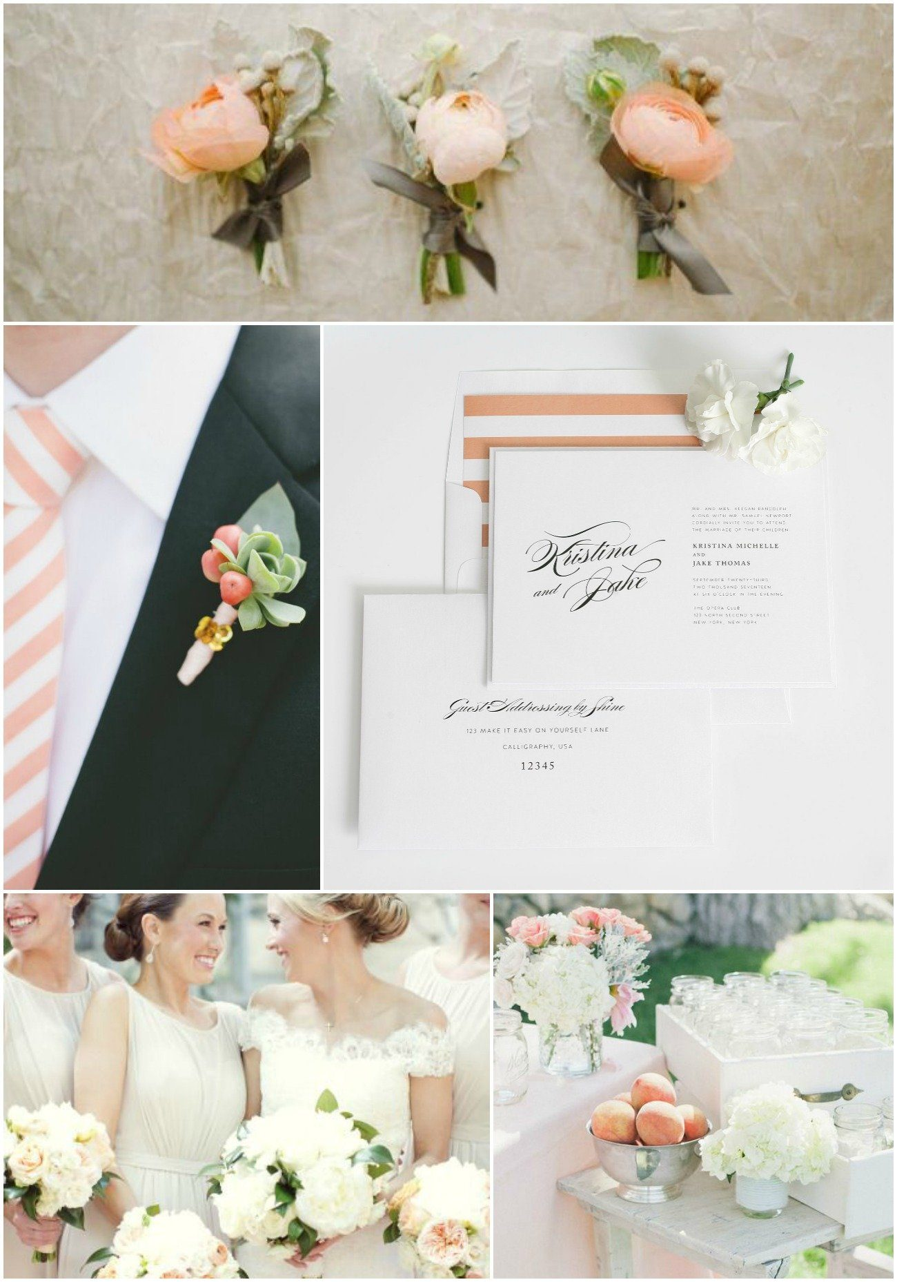 romantic peach wedding inspiration