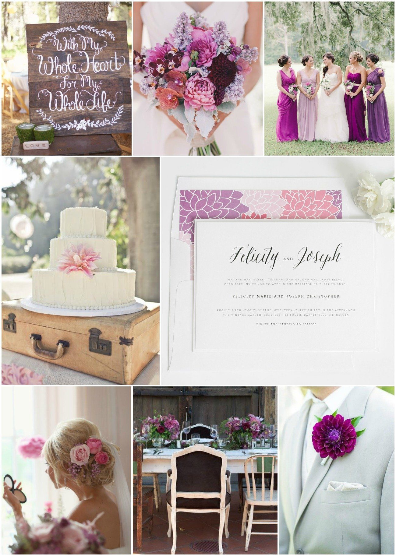 Rustic Romance Purple Wedding Inspiration