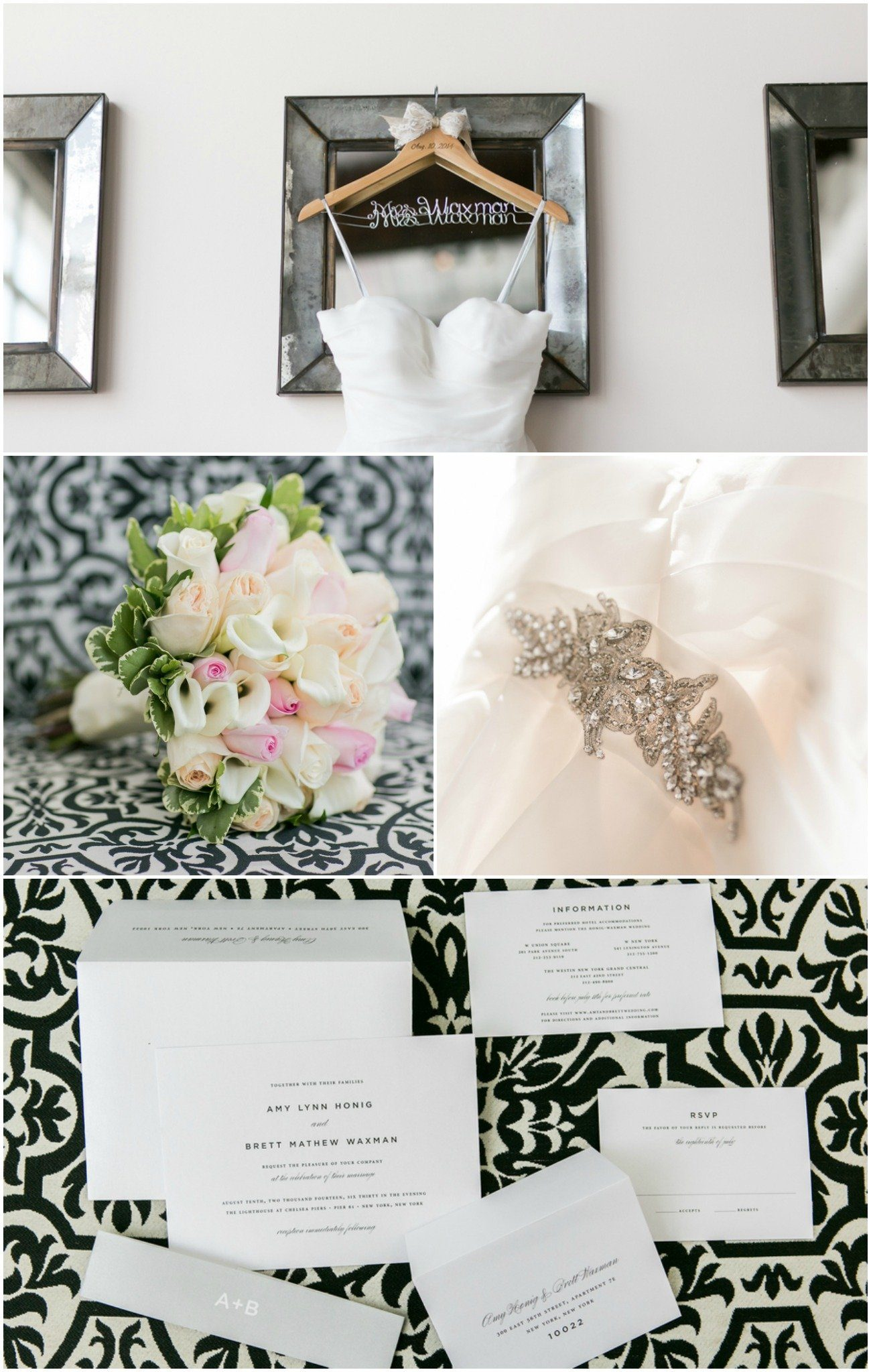 Classic Wedding invitations in black and white