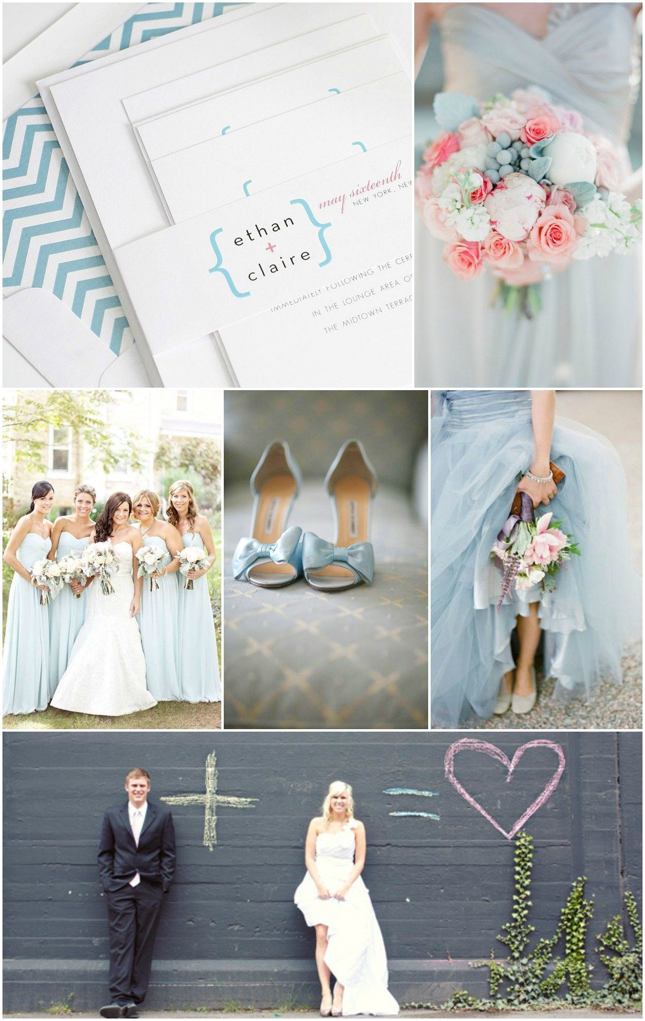 Mathematical Pink and Blue Wedding Inspiration