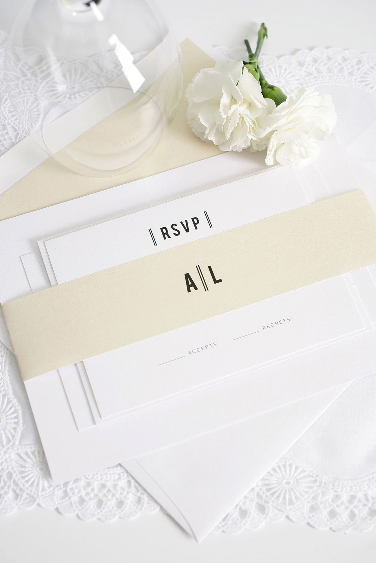Urban Champagne wedding invitations