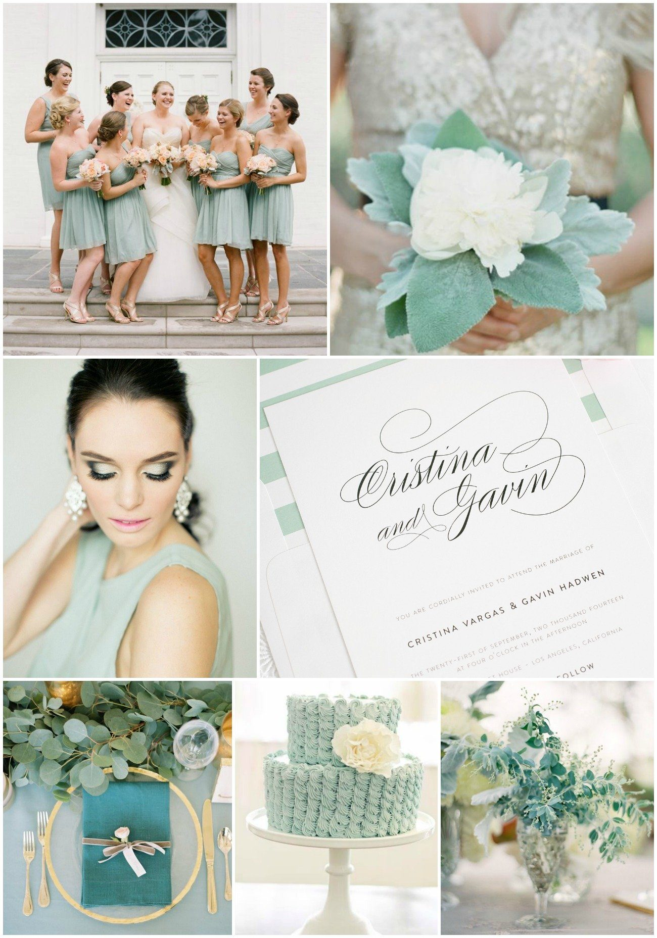 Greyed Jade Wedding Inspiration