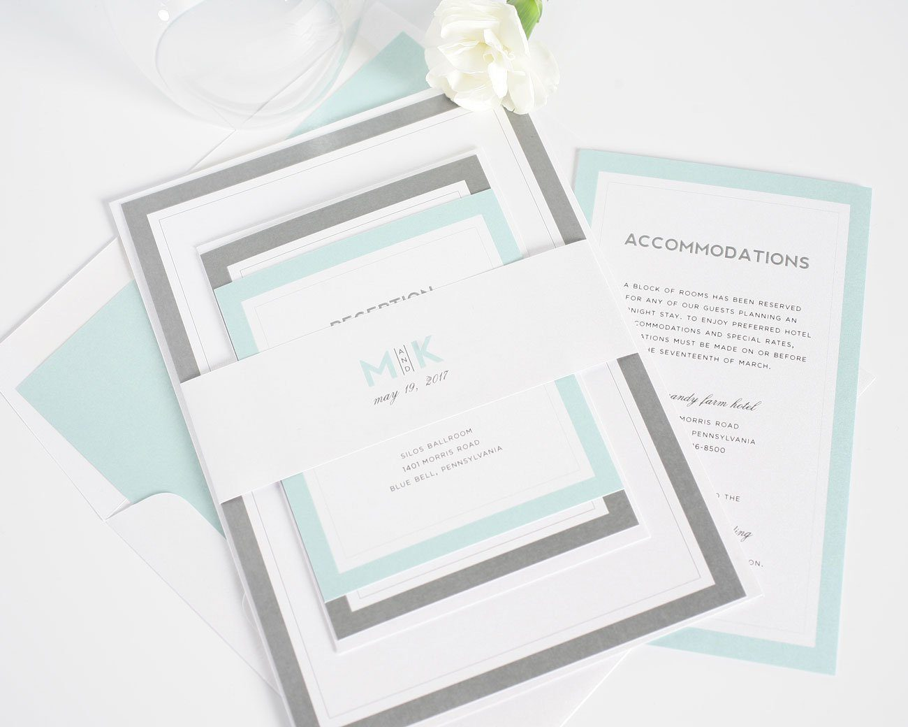 mint wedding invitations modern mint wedding invitations wedding invitations 5958