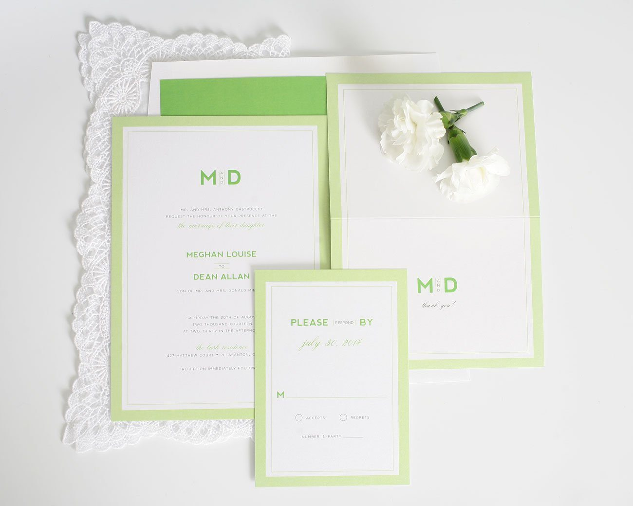 Modern Wedding Invitations With Borders
